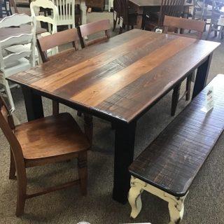 "40"" x 6' x 30"" Cabin Leg Table @ Baton Rouge in Stock BR-428"