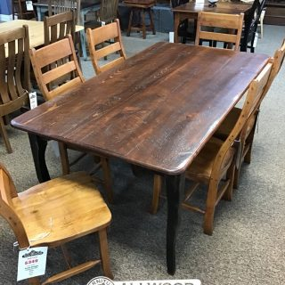 "40"" x 6' Creole Leg Table @ Baton Rouge in Stock BR-433"