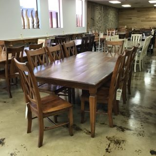 """48"""" X 8' Knotched Leg Table @ Pinhook In Stock PH-9891"""