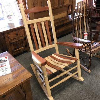 Amish Ash & Cedar Rocker @ UL Store In Stock UL-631