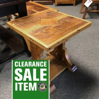 22″ x 22″ Barnwood End Table @ UL Store In Stock UL-425