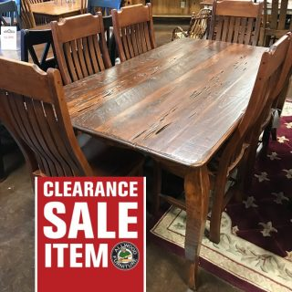 40″ x 6′ Pecky French Table @ UL Store UL-426 SOLD