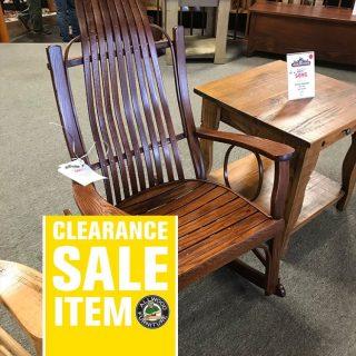 Amish Bent Oak Rocker @ UL Store In Stock UL-625