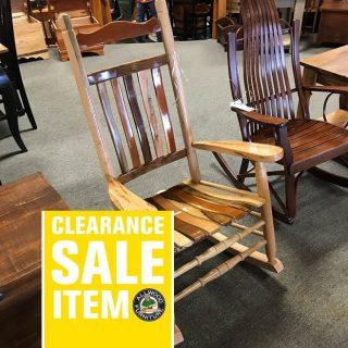 9 Wood Amish Rocker @ UL Store In Stock UL-626