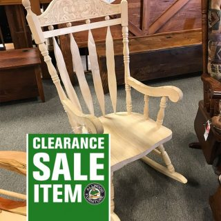 Deluxe Amish Carved Back Rocker @ UL Store In Stock UL-627