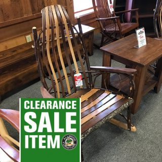 Amish Hickory Bent Rocker @ UL Store In Stock UL-639