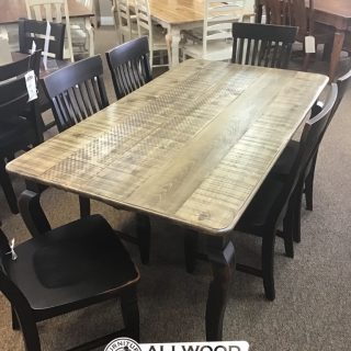 "40"" x 6' Curvacious Leg Table @ Baton Rouge in Stock BR-9948"