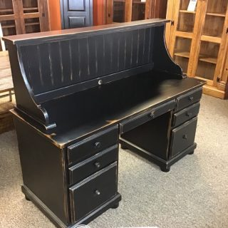 Bonnet Top Desk w/ 2 File Drawers @ Baton Rouge in Stock BR-9944