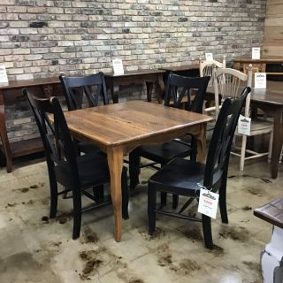 "40"" X 40"" Creole Leg Table @ Pinhook In Stock PH-354"