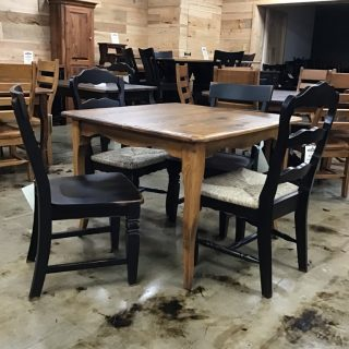 "40"" X 40"" Creole Leg Table @ Pinhook In Stock PH-356"