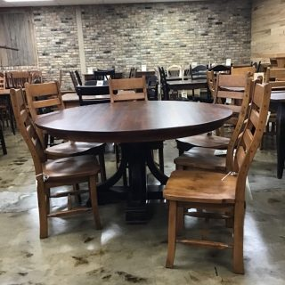 "60"" Amish Pedestal Table @ Pinhook In Stock PH-370"