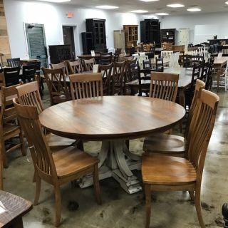 "60"" Round Amish Pedestal Table @ Pinhook In Stock PH-371"