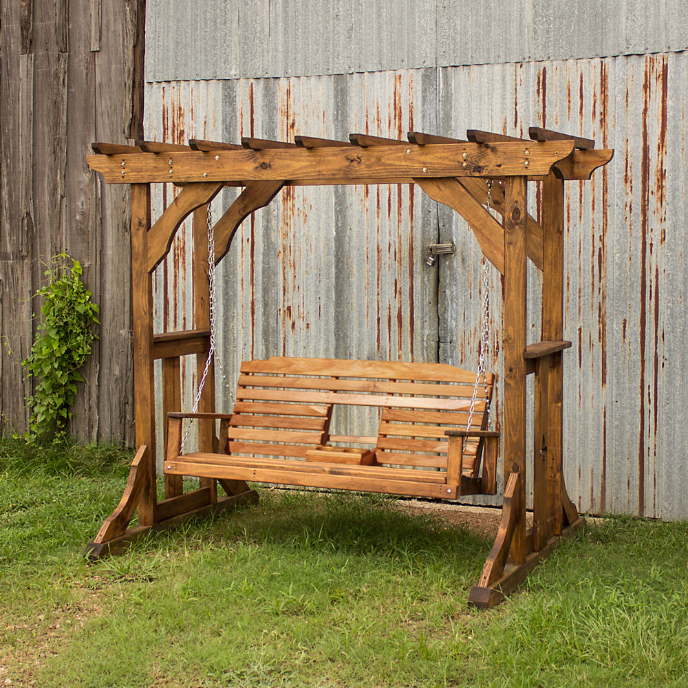 Acadiana Arbor W Side Shelves And Console Swing