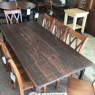 "40"" x 7' Creole Leg Table @ Baton Rouge in Stock BR-9903"