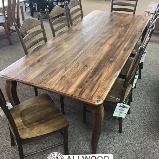 "40"" x 8' French Leg Table @ Baton Rouge in Stock BR-9904"