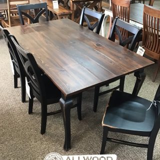 """40"""" x 6' Cabriole Leg Table @ Baton Rouge in Stock BR-424"""