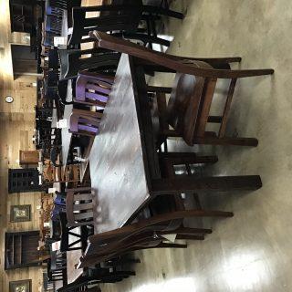 "40"" X 6'  Block Leg Barnwood Table @ Pinhook In Stock PH-10392"