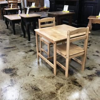 "25.5 X 25.5 X 22"" Child's Table & Chairs @ Pinhook In Stock"