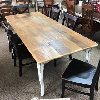 "40"" x 8' Creole Leg Table w/ Barnwood Top @Baton Rouge in Stock BR-10516"