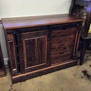 Rustic Empire Barndoor Tv Stand @ Pinhook In Stock PH-10509