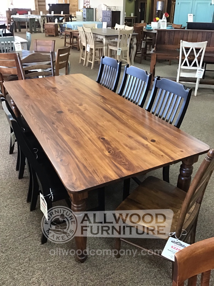 42 X 8 Country Turned Leg Table Baton Rouge Br 10780 Sold All Wood Furniture