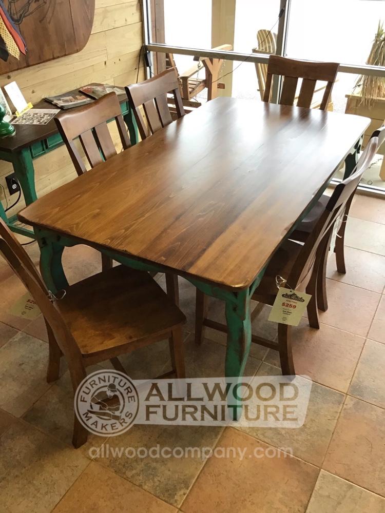40 X 6 Fleur De Lis Leg Table Baton Rouge In Stock Br 9914 All Wood Furniture