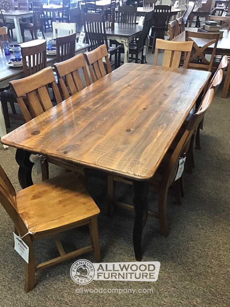 40 X 7 Double Sabre Leg Table Baton Rouge In Stock Br 10786 All Wood Furniture