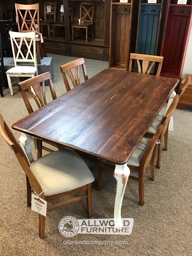 40 X 6 Cabriole Leg Table Baton Rouge Br 9931 Sold All Wood Furniture