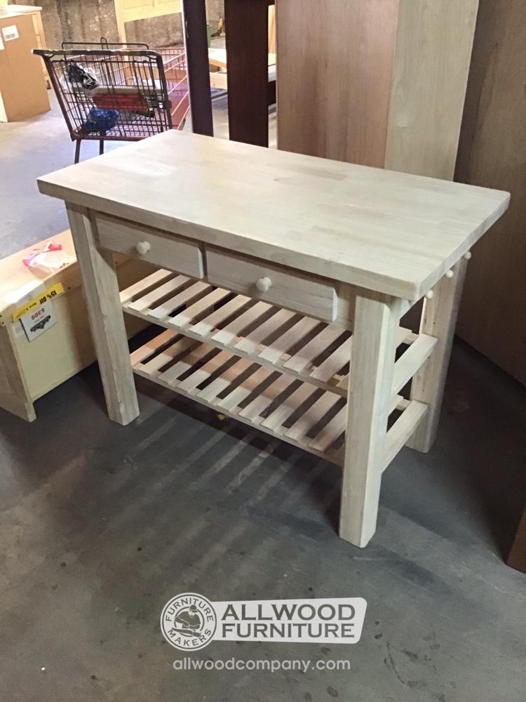 48 X 24 Super Kitchen Island Baton Rouge Brwh 542 Sold All Wood Furniture