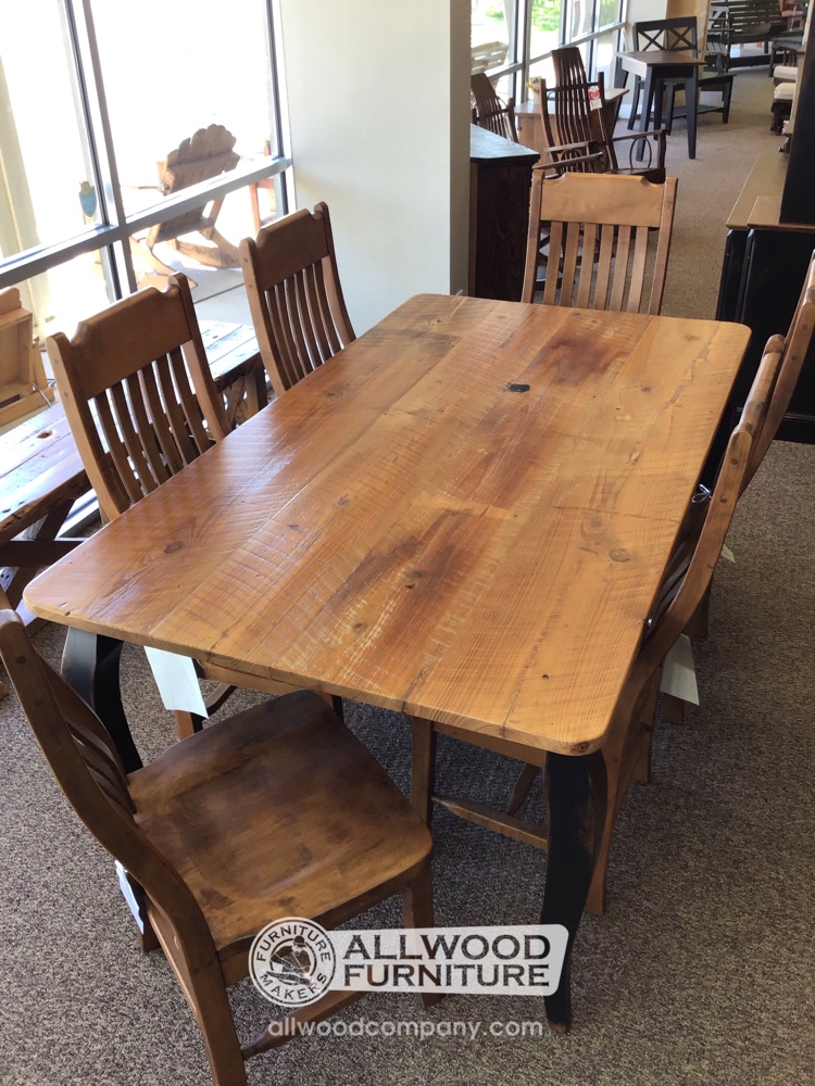 40 X 6 French Leg Table W Barnwood Top Baton Rouge In Stock Br 11238