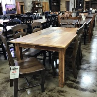 40 X 6 Cabin Leg Table Pinhook In Stock Ph 10832