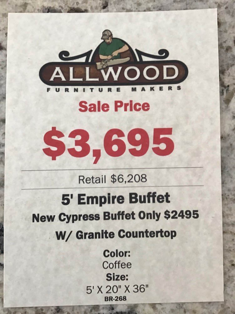 Empire Buffet W Granite Countertop Baton Rouge In Stock