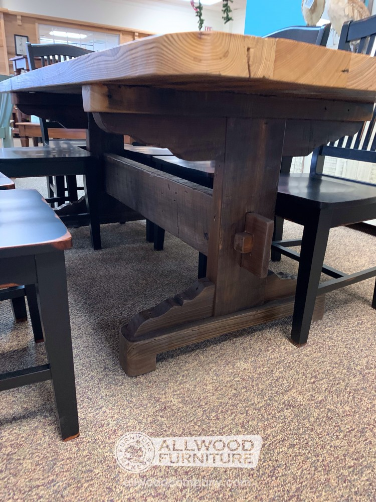 36 X 7 Old Style Trestle Table Baton Rouge In Stock Br